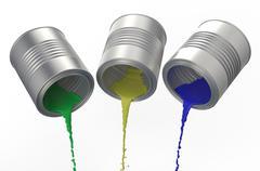spilled paints - stock illustration
