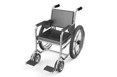 empty wheelchair - stock illustration