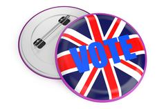 Elections in Great Britain concept Stock Illustration