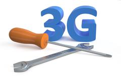 3G repairs concept Stock Illustration