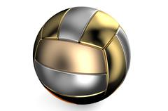 Golden and silver volleyball ball Piirros