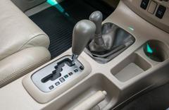 Automatic transmission gear shift - stock photo