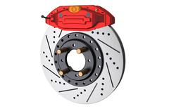 Car disc brake and caliper Stock Illustration