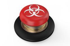 Biological hazard red button Stock Illustration