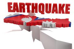 Earthquake in Nepal concept Stock Illustration
