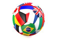 Soccer ball with flags of countries Stock Illustration