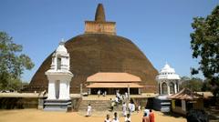 Abhayagiri Dagoba in Anuradhapura, Sri Lanka Stock Footage