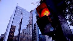 Pedestrian traffic light - stock footage