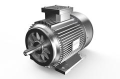 Industrial electric motor Stock Illustration