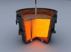 Metallurgical ladle furnace Stock Illustration