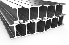 Rolled metal H-beam Stock Illustration
