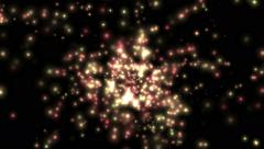 4k flying color shine particle & dots light in space,vj background. Stock Footage