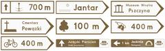 Stock Illustration of Touristic Direction Signs In Poland