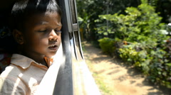 traveling by train, Sri Lanka, Asia - stock footage