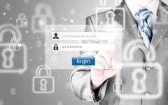 Login and password Stock Photos