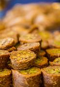 Turkish sweet baklava - stock photo