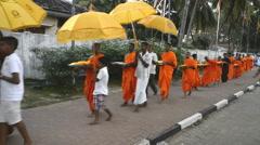 Pilgrims on Ruwanwelisaya Stupa in Anuradhapura, Sri Lanka. Stock Footage