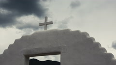 (Timelapse) Spanish Mission Church Cross Stock Footage
