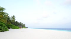 Sand beach and ocean wave, South Male Atoll. Maldives Stock Footage