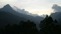 Mountain Adam's Peak (Sri Pada), Maskeliya, Sri Lanka, Asia. Stock Footage