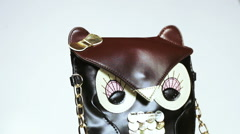 Bag in form owl Stock Footage