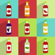 Juice bottles - stock illustration