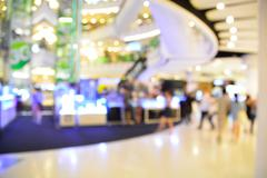 Blur or defocus image of shopping mall Stock Photos