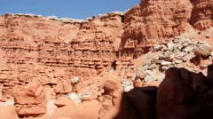 Interesting rock formations at Goblin Valley State Park Stock Footage