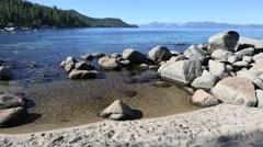 Beautiful Shoreline of Lake Tahoe - stock footage