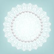 Fabric doily and pearls Stock Illustration