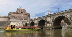 Castel Sant'Angelo in Rome (4K) Stock Footage