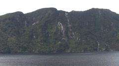 New Zealand Milford Sound Scenery Stock Footage