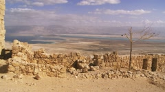 Masada region of Israel Stock Footage