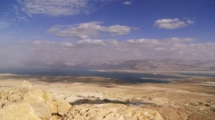 Dead Sea in Massada Region, Timelapse Stock Footage