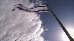 Israeli flag in the wind Stock Footage