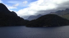 New Zealand Crusing the Fjords Stock Footage
