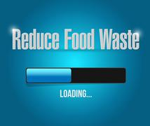 Stock Illustration of reduce food waste loading bar sign concept