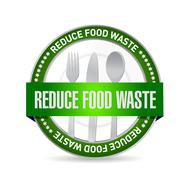 Stock Illustration of reduce food waste seal sign concept