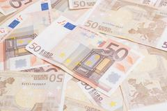 Fifty euros Stock Photos