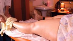 Stock Video Footage of anti-cellulite leg massage