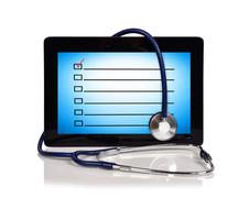 Touch pad with checklist Stock Illustration