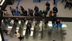 Passangers at the Paulista Subway Station. Sao Paulo, Brazil Stock Footage