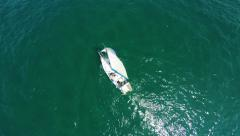 Over Head shots of Boats in the Sea - Aerial Shot 2 - stock footage