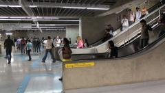 Passengers at the Subway Station. Sao Paulo, Brazil Stock Footage