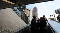 Sao Paulo Metro, Republica Station. Subway entrance. Sao Paulo, Brazil Stock Footage