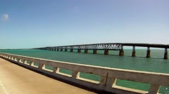 Old Railroad from the Seven Mile Bridge Stock Footage