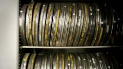 Film cans Stock Footage