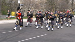 Police Marching Band Stock Footage