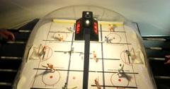 Classic Retro Arcade Hockey Game 4K Stock Video Stock Footage