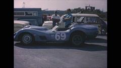 Vintage 16mm film, Corvette powered Lister BHL18 rare, 1963 Stock Footage